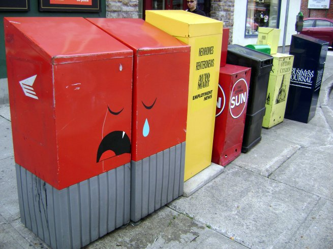 Being a mailbox can get you down sometimes.